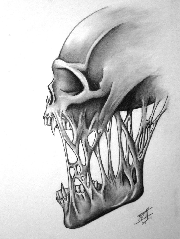 Skull no. 2 by BD3illustrations on DeviantArt