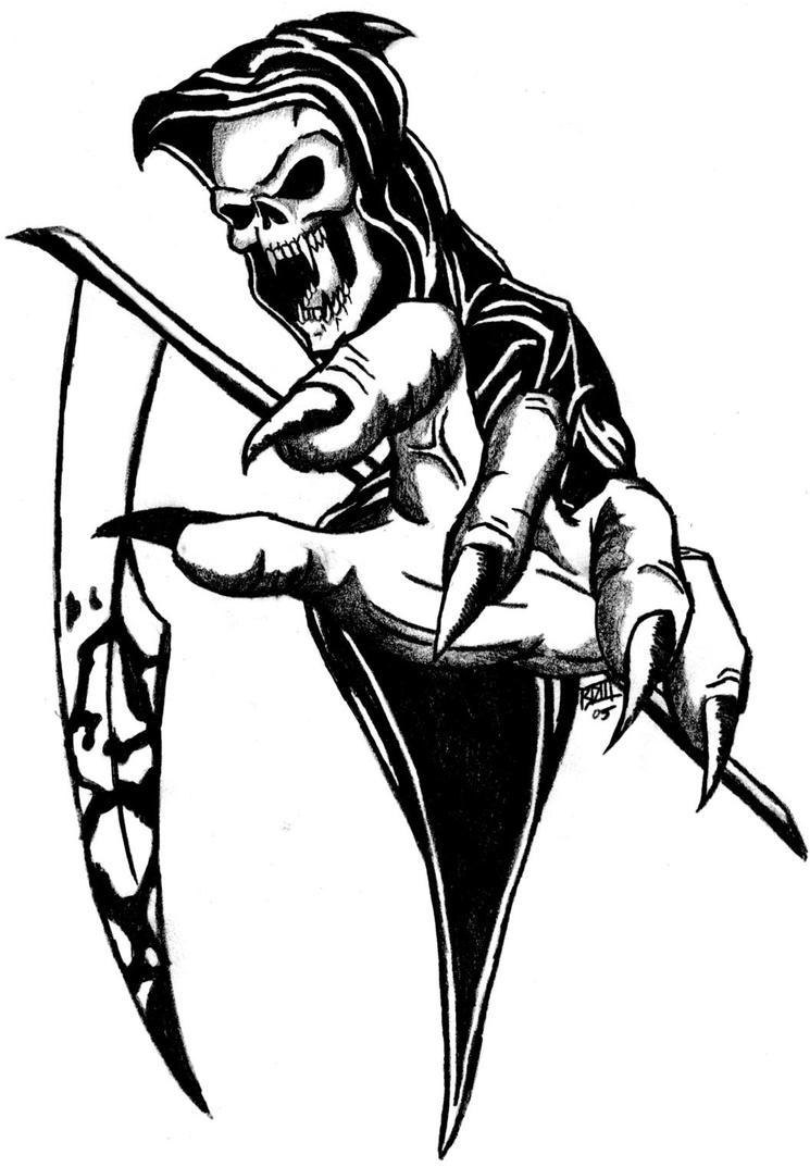 Grim reaper tatoo by bd3illustrations on deviantart grim reaper tatoo by bd3illustrations voltagebd Images