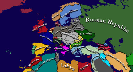 TSVBall Mapping's Kaiserreich Universe - 1922