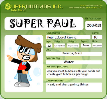 ID Card : Super Paul by Poulthefox