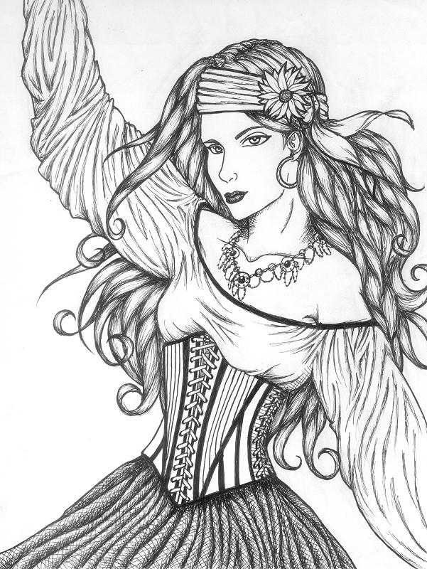 gypsy coloring pages | Gypsy by moonbeamfluff on DeviantArt