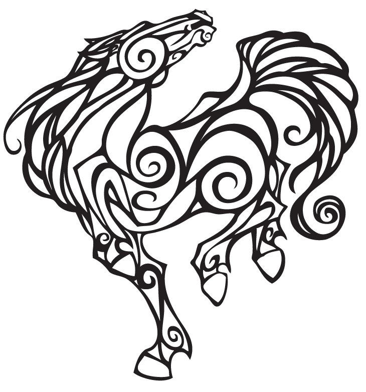 Horse Line Drawing Tattoo : Horse lineart by moonbeamfluff on deviantart