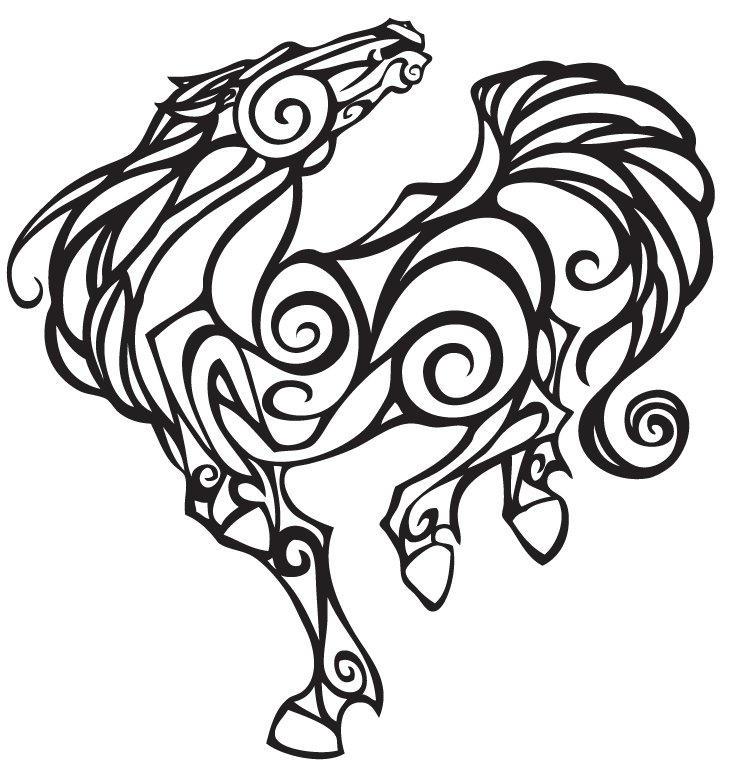 Horse Line Drawing Tattoo : Horse lineart by moonbeamfluff on deviantart