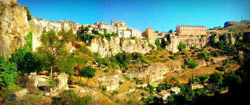 Landscape of Cuenca, Spain by carrodeguas