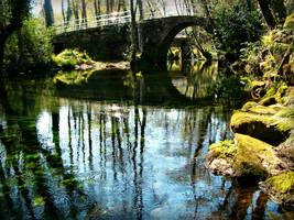 Bridge over Belelle, Spain by carrodeguas