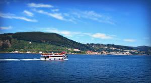 Boat Ria de Ferrol, Spain by carrodeguas
