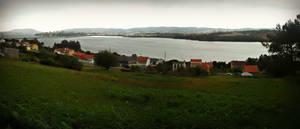 Rain Ria de Ferrol, Spain by carrodeguas
