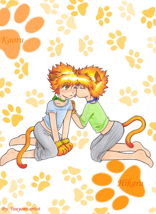 Hikaru and Kaoru-Chibi Kitties by yuuyami-artist on DeviantArt  Hikaru and Kaor...