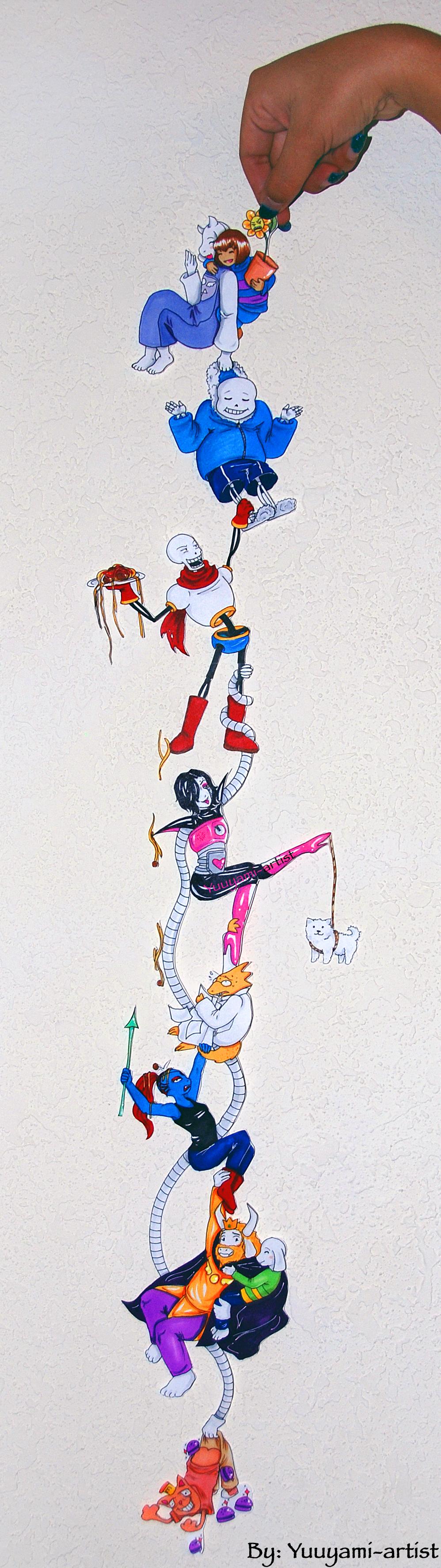 Undertale - Chibi Chain by yuuyami-artist
