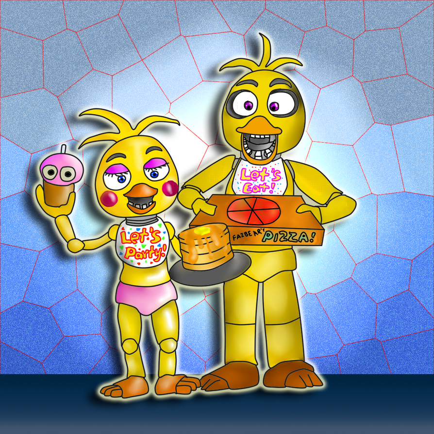 Chica Toy Chica Favourites By Goldenafro On Deviantart: Chica And Toy Chica By SlamThePan On DeviantArt
