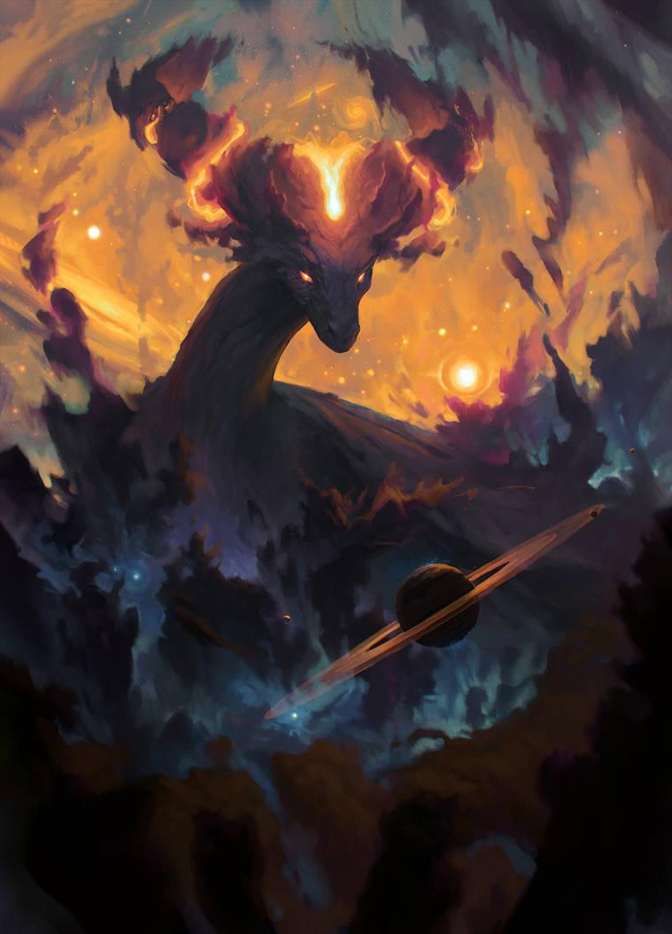 The Cosmic Dragon by Xyrlei