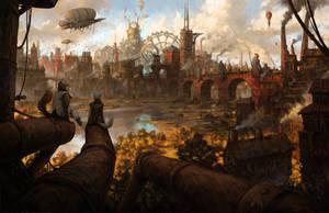 Steampunk City by Xyrlei