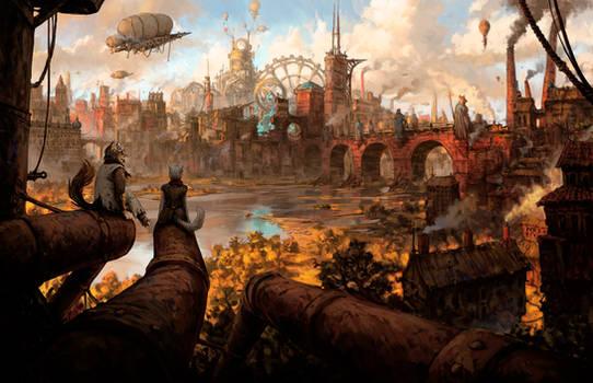 Steampunk City