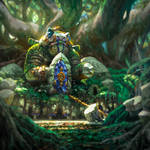 LROA: Frog Warrior Statue