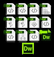 dreamweaver cs6 file icons by dabbex30