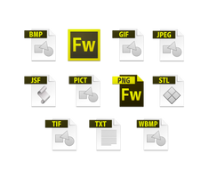 fireworks cs6 file icons by dabbex30