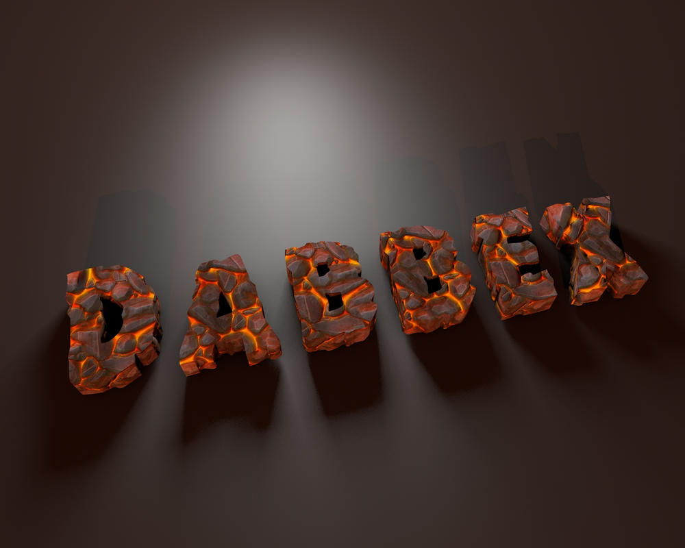 Lava-Letters-byDabbexsahi by dabbex30