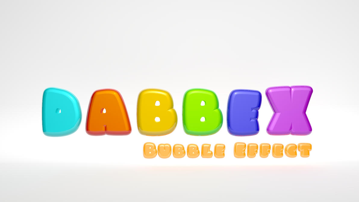 Bubble Letters Wallpaper by dabbex30