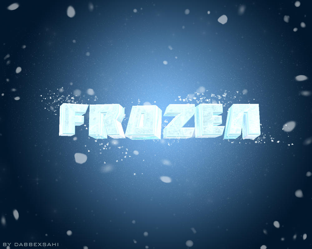 Frozen 3D Text Effect Wallppaer by dabbex30