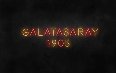 Galatasaray Neon Effect Letters
