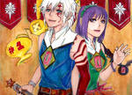 Allen and Lenalee - 1,000 by Kzira03