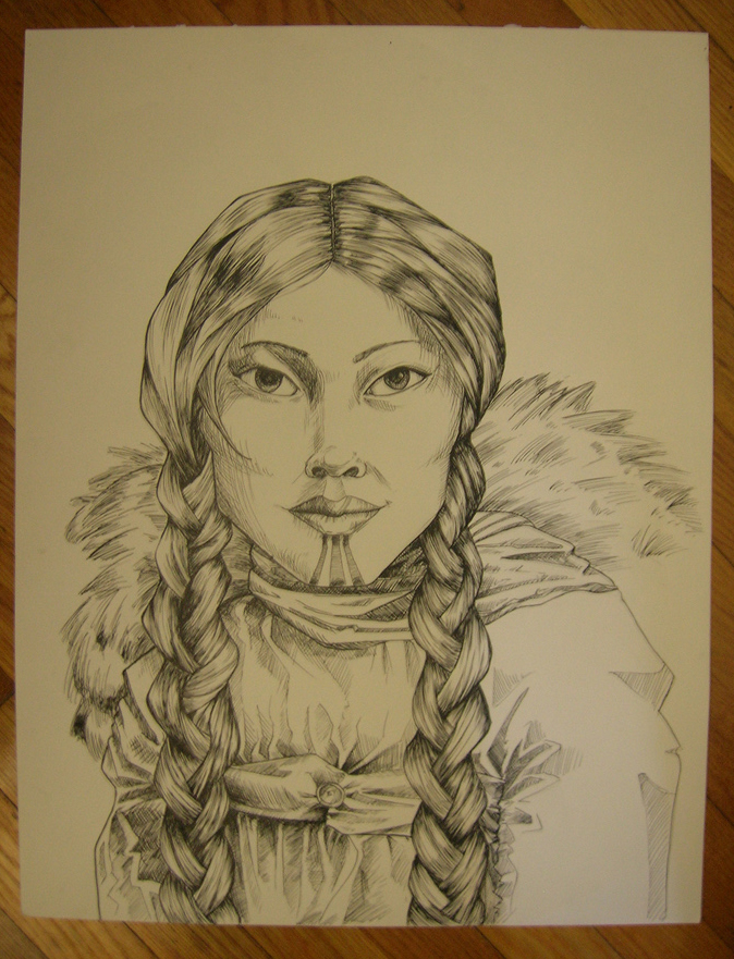 Eskimo woman by khallion