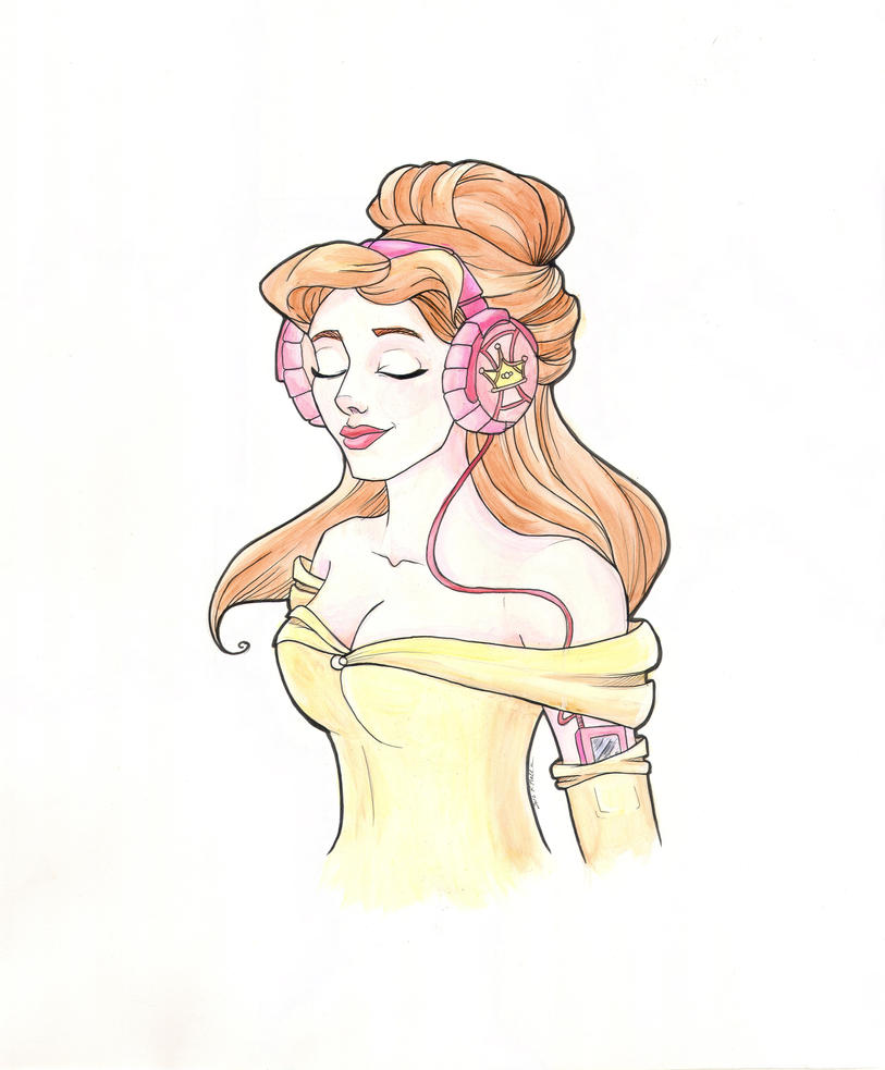 Rockin' Princess Belle by khallion