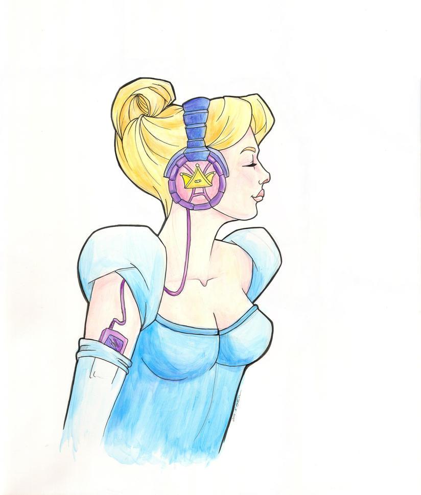 Rockin' Princess Cinderella by khallion