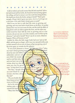 Alice on a Book Page