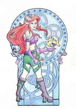 Steampunk Ariel Acrylic