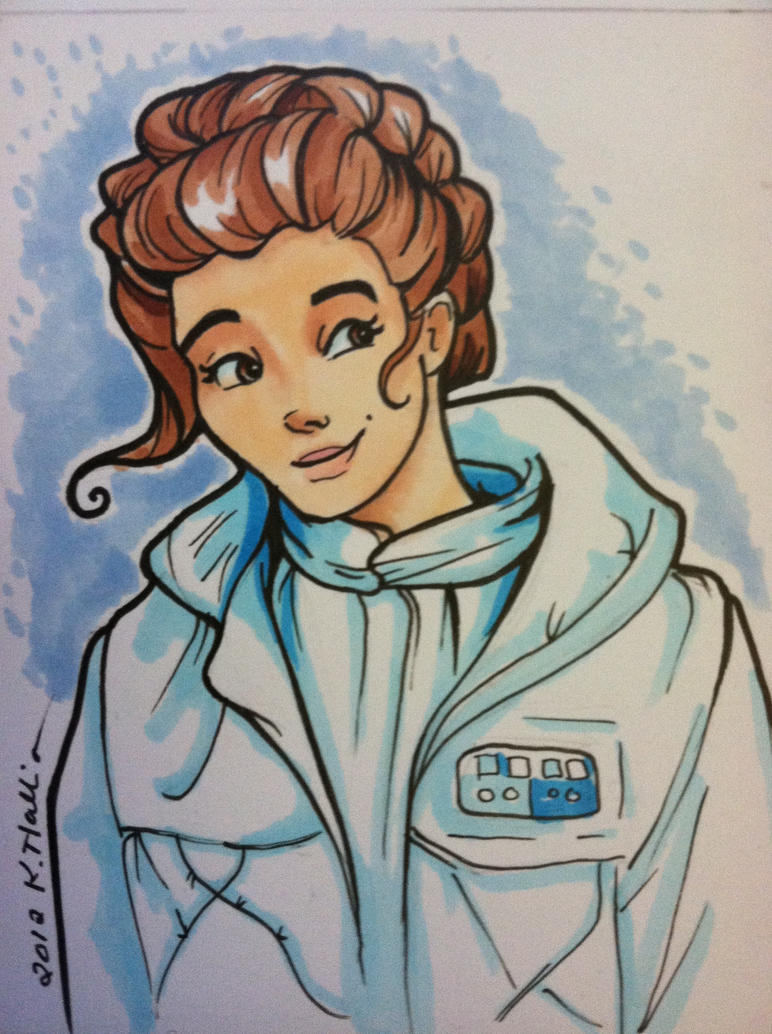 Hoth Leia by khallion