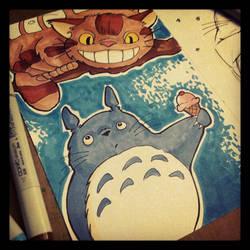 Totoro and Catbus