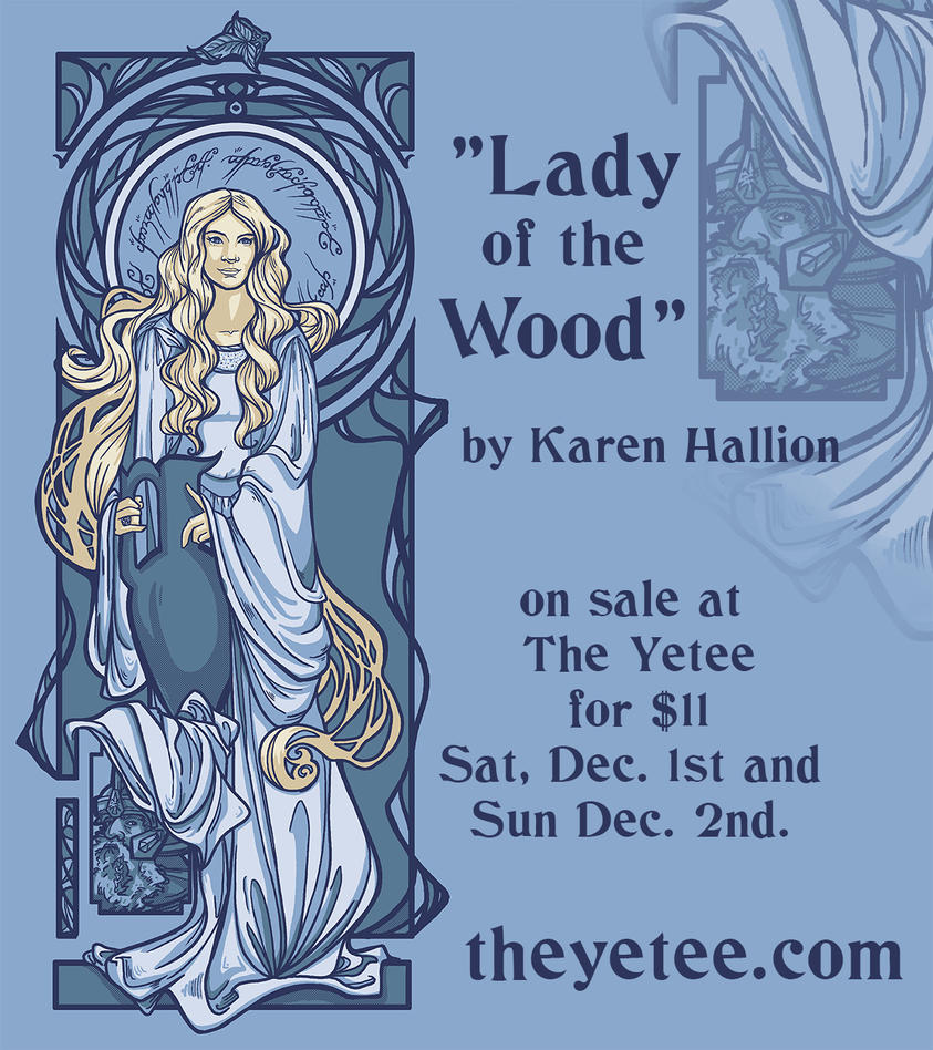 Yetee sale: Lady of the Wood shirt by khallion