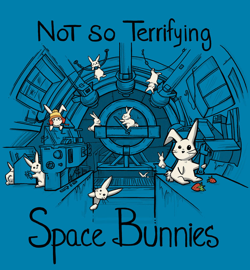 No so Terrifying Space Bunnies by khallion