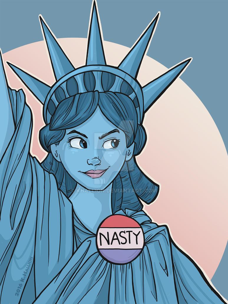 Nasty Lady Liberty by khallion