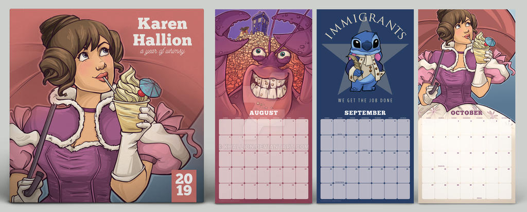 2019 Calendar by khallion