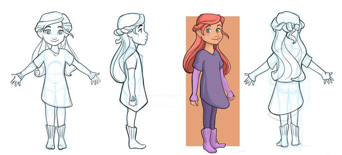Model Sheet Full Body Celara