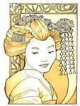 Geisha Tea Painting