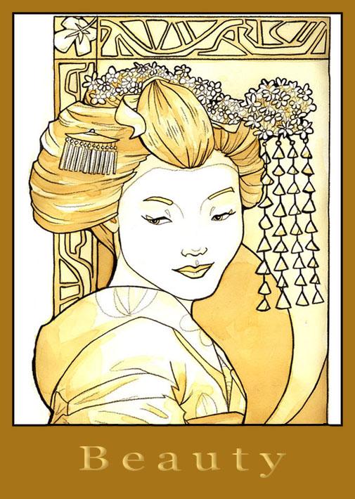 Geisha Magnet by khallion