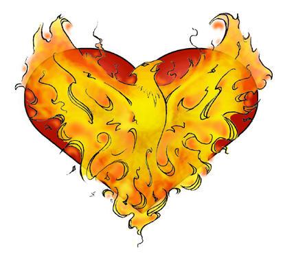Phoenix tattoo design by Goliwog