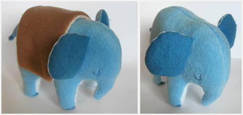 Sleeping Blue Elephant 02 by elbooga