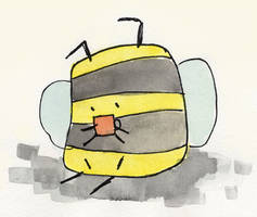 Bumble bee with tea