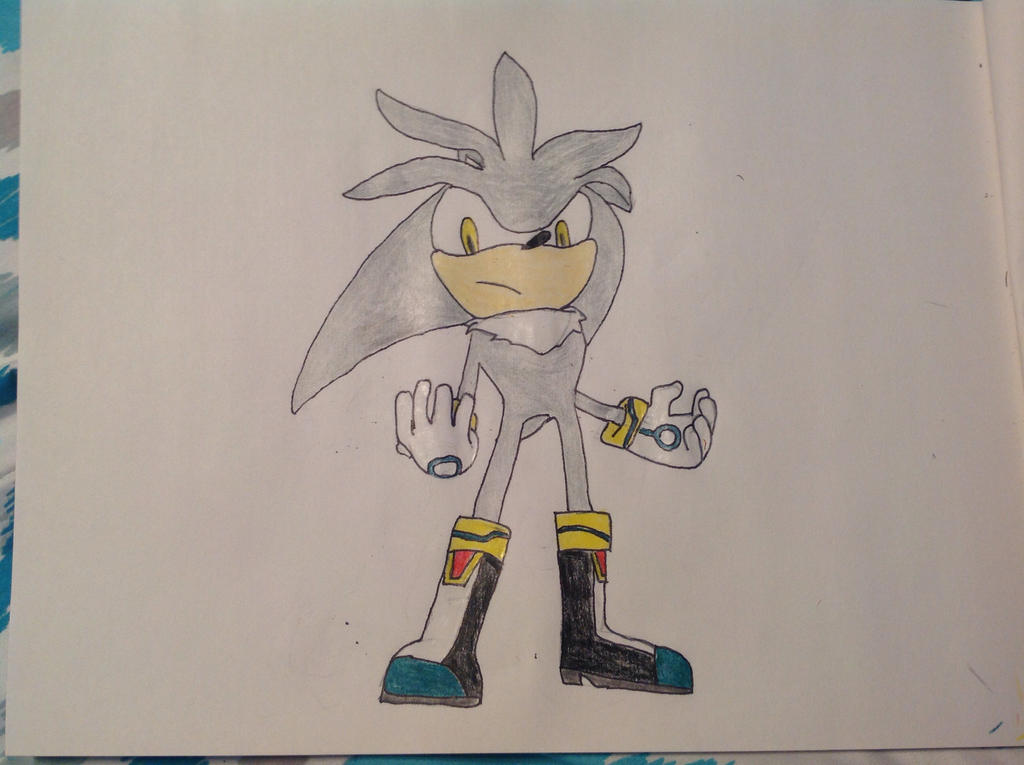 My first silver the hedgehog drawing by PhatPandaPo23