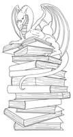 dragon bookmark lineart by Ankaraven