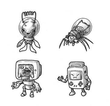 June T7 - Four Electronic Creeps by GTK666