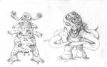 August T6 - 2 Alien species by GTK666