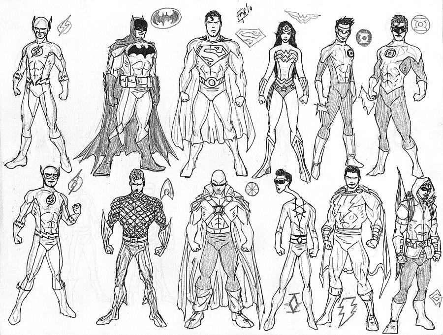 Justice League Unlimited Coloring Pages - Eskayalitim
