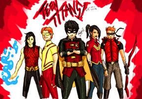 New Earth:Teen Titans by kyomusha