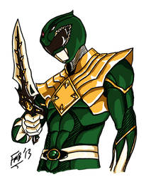 The Dragon Ranger/Green Ranger by kyomusha