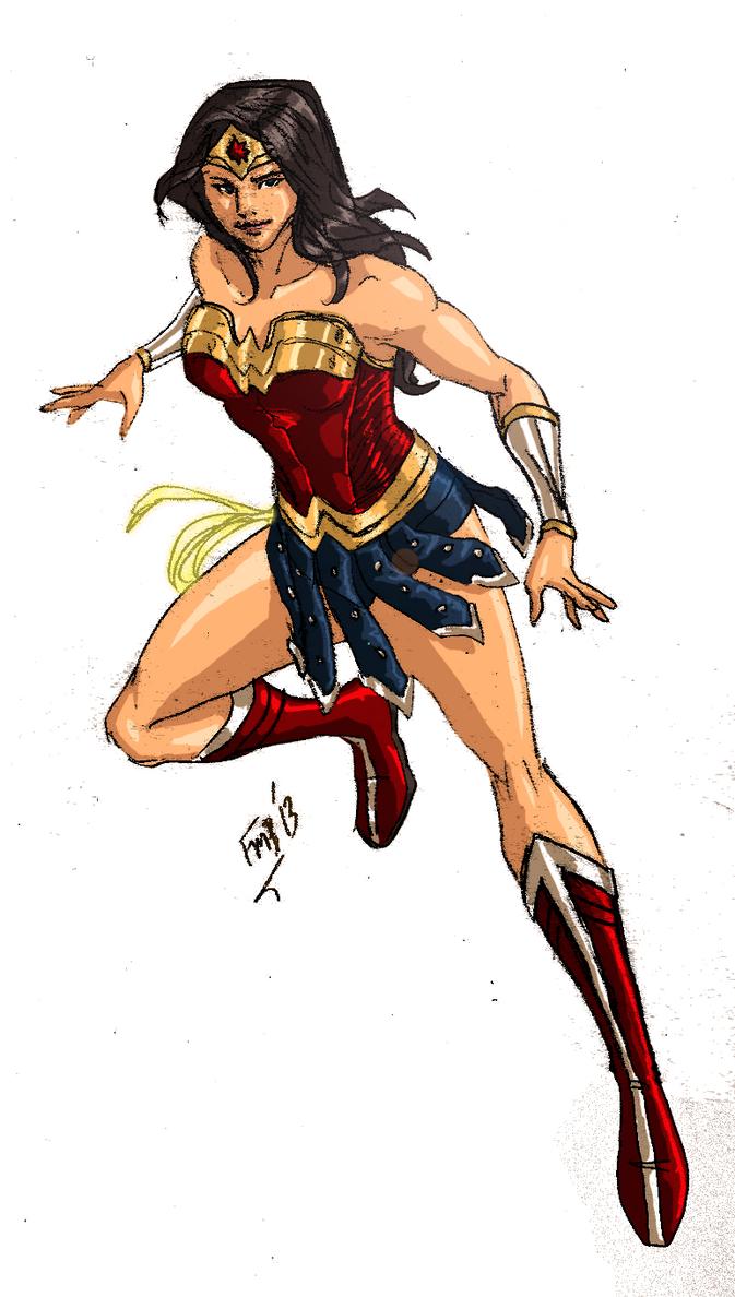 DC: Wonder Woman - Colored by kyomusha